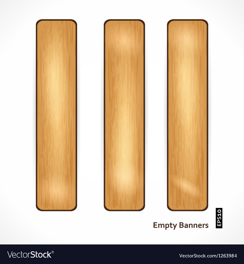 Wooden eco banner vector