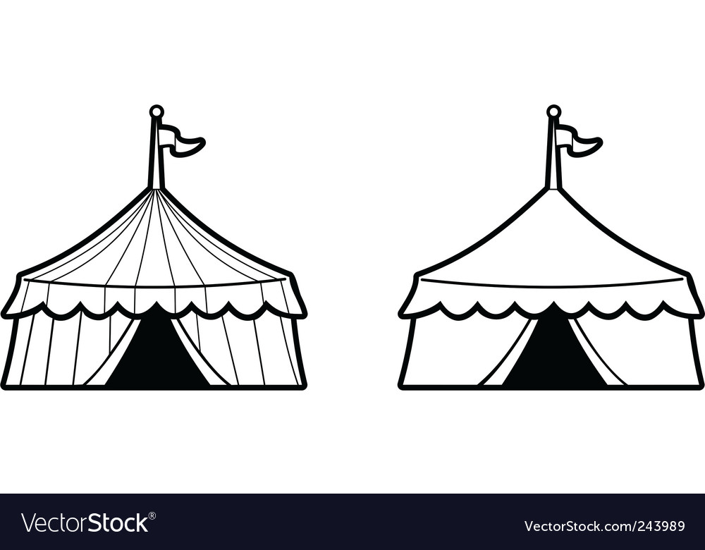 Two circus tents vector