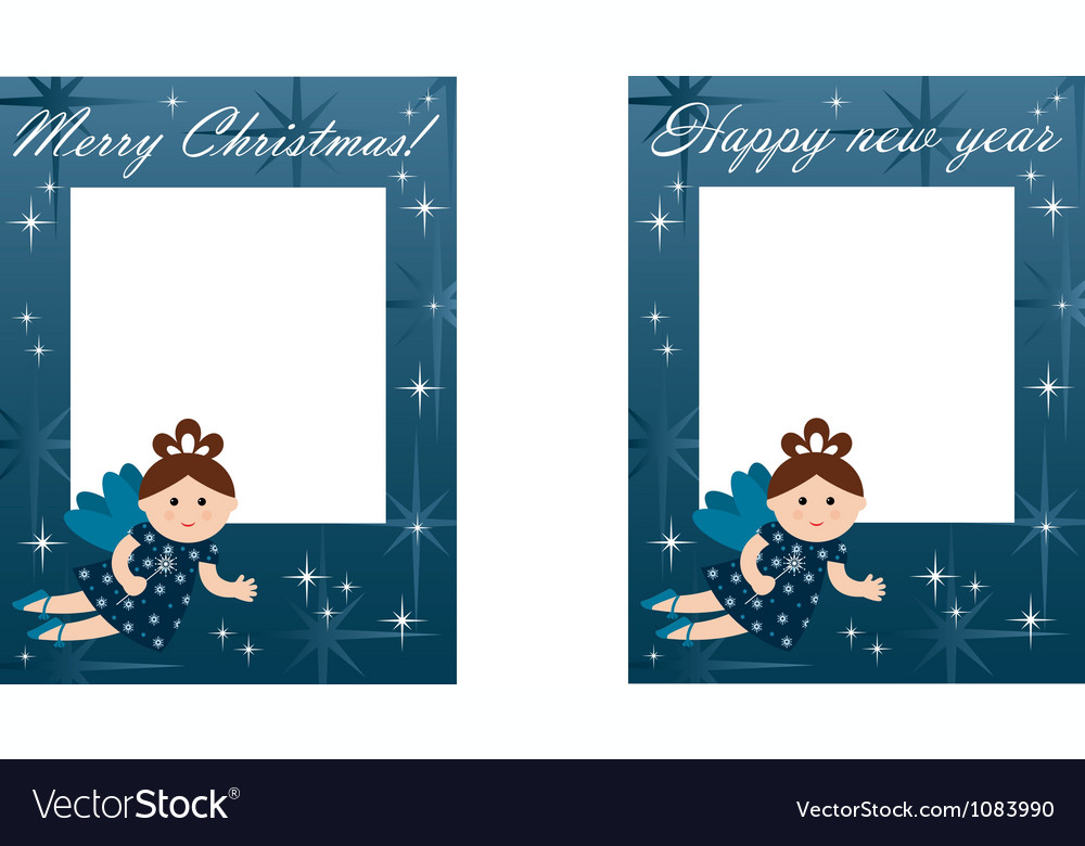 New year and christmas card vector