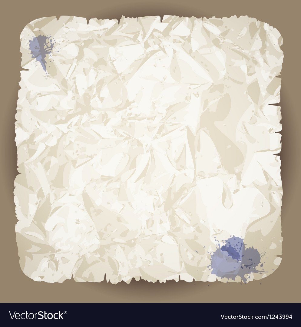Blank damaged piece of paper vector