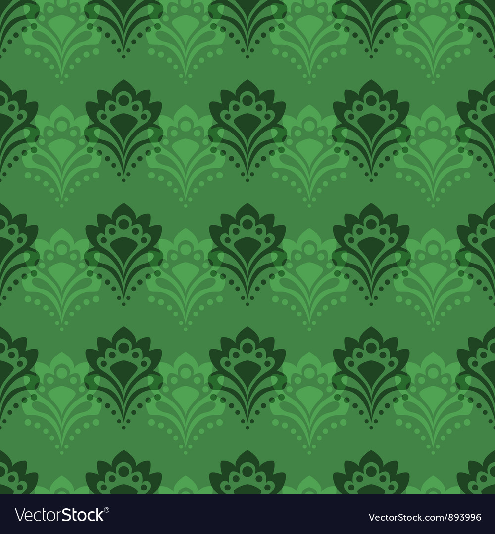 Background  emerald flowers vector