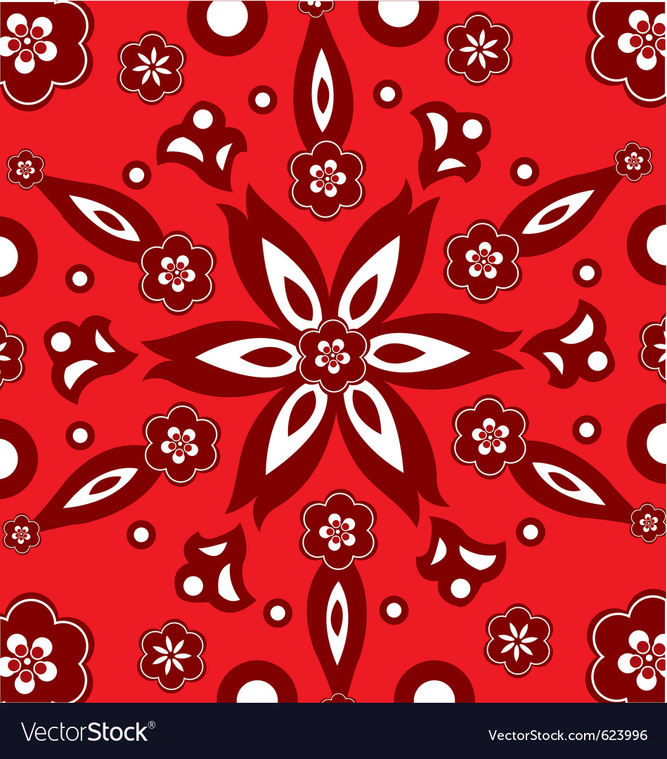 Flower wrapping paper vector