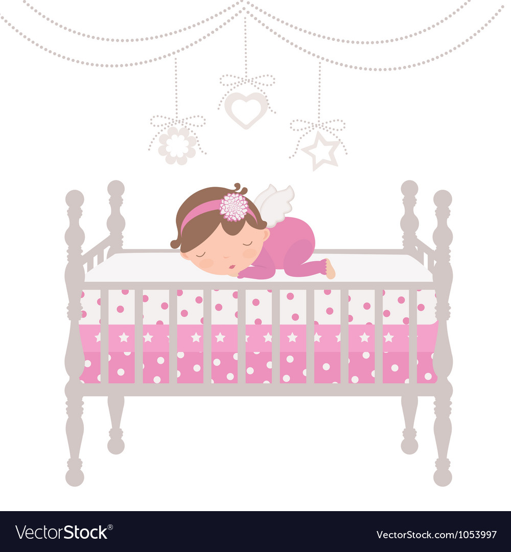 Little angel sleeping vector