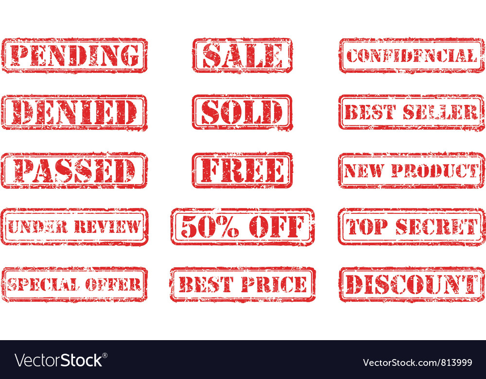 Set rubber stamps vector