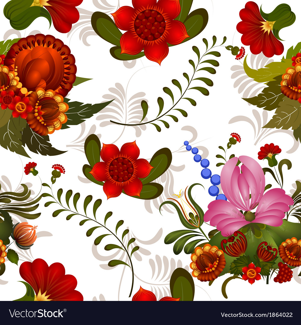 Free seamless floral pattern vector