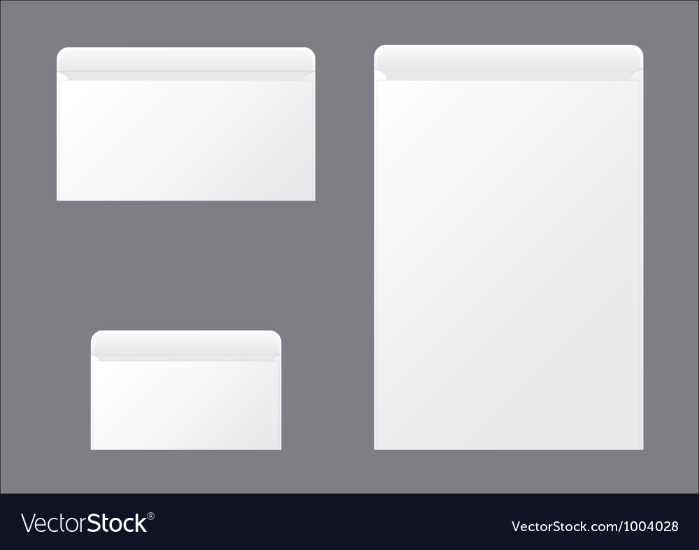 Open envelopes vector