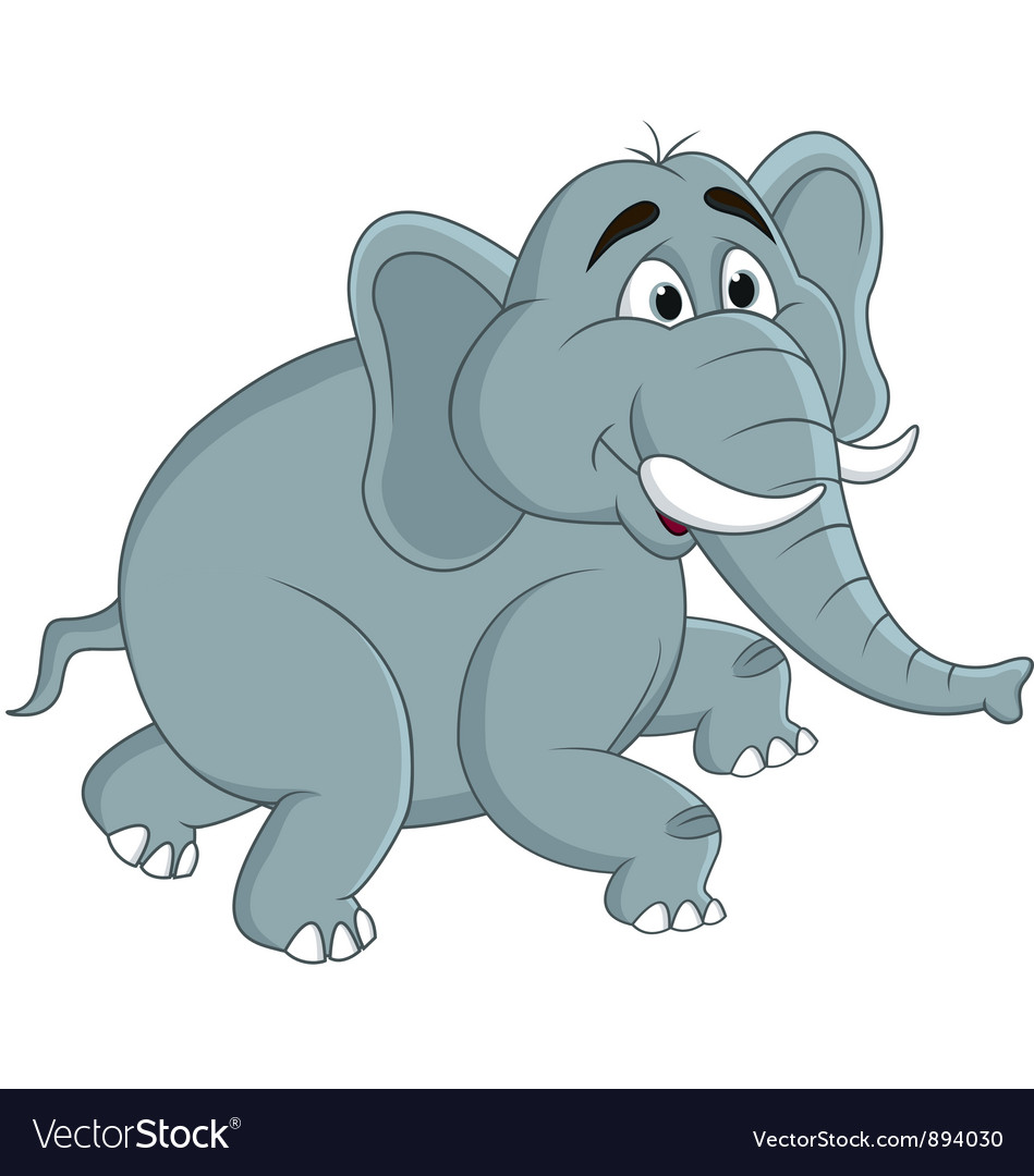 Funny elephants cartoon vector
