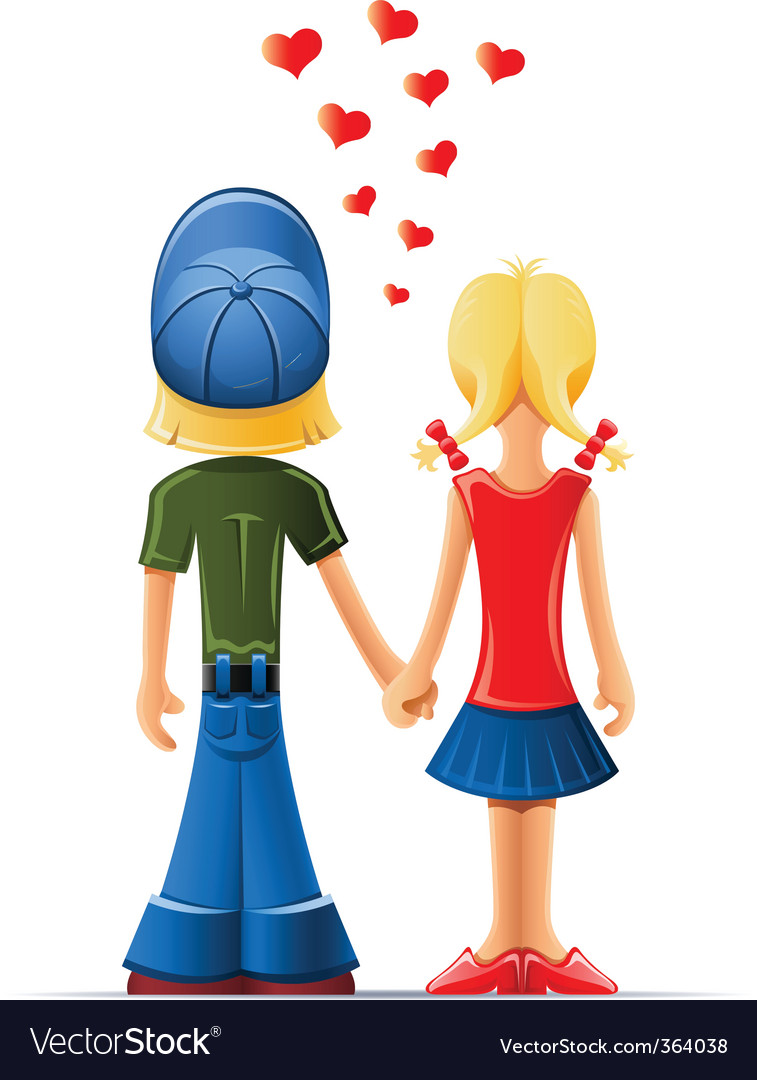 Boy and girl lovers vector