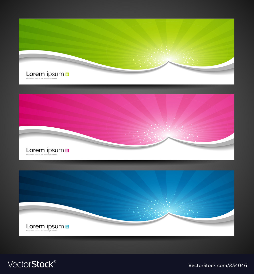 Banner design colorful vector