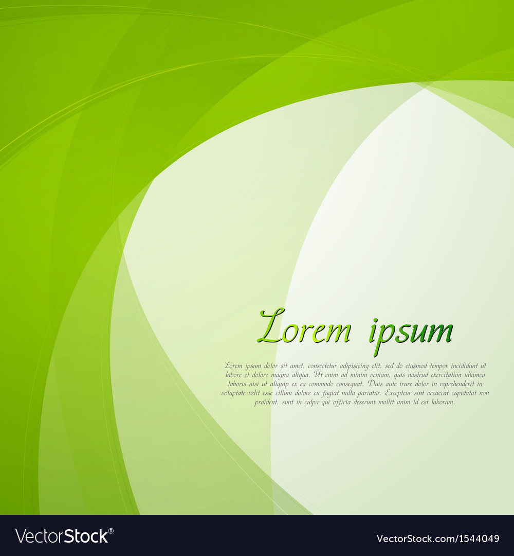 Bright green waves design vector