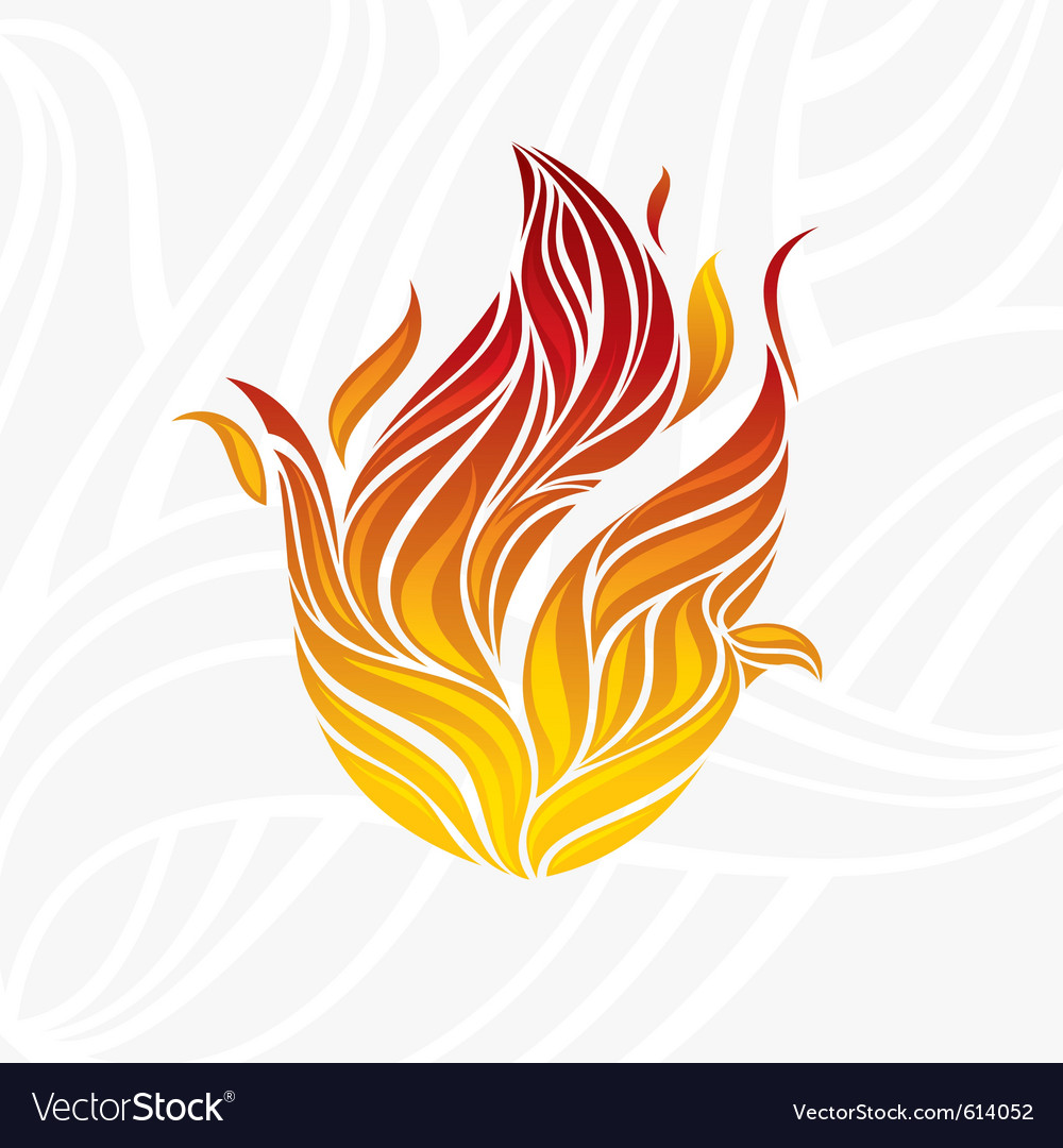 Artistic fire vector