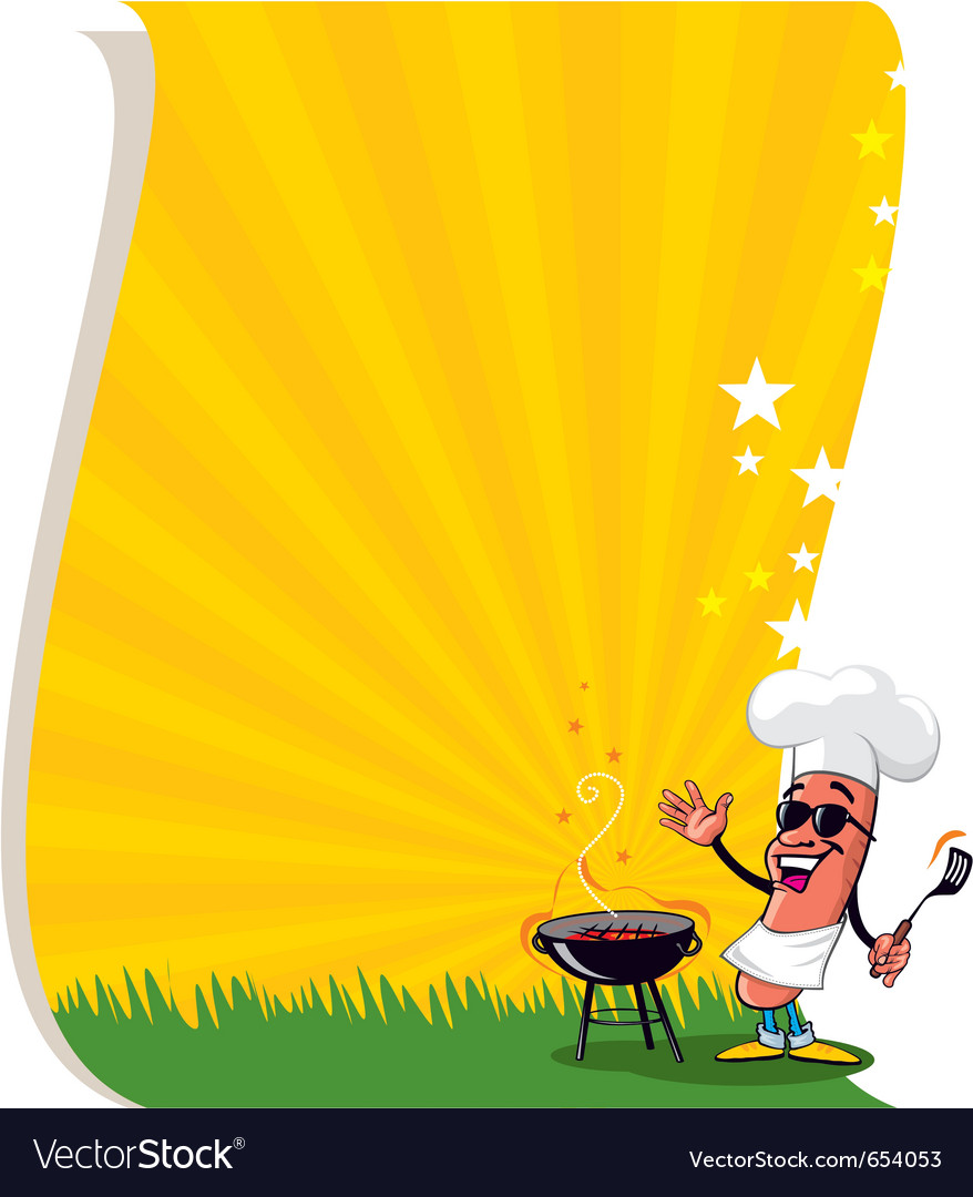 Bbq poster template vector