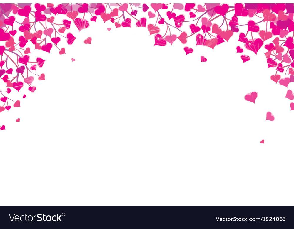 Heart border vector by rvika - Image #1824063 - VectorStock