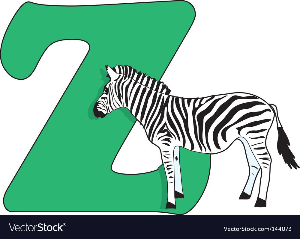 Z is for zebra vector by mkoudis - Image #144073 - VectorStock