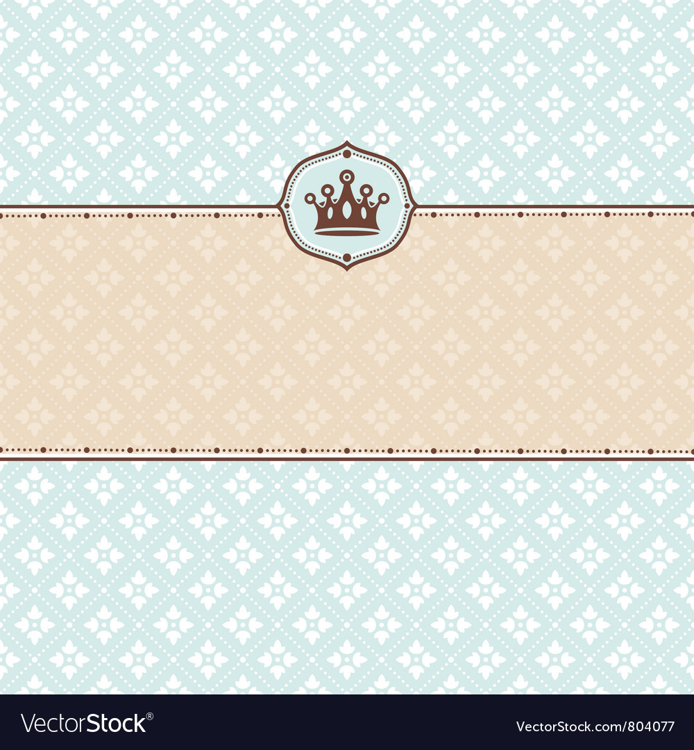 Cute retro frame vector