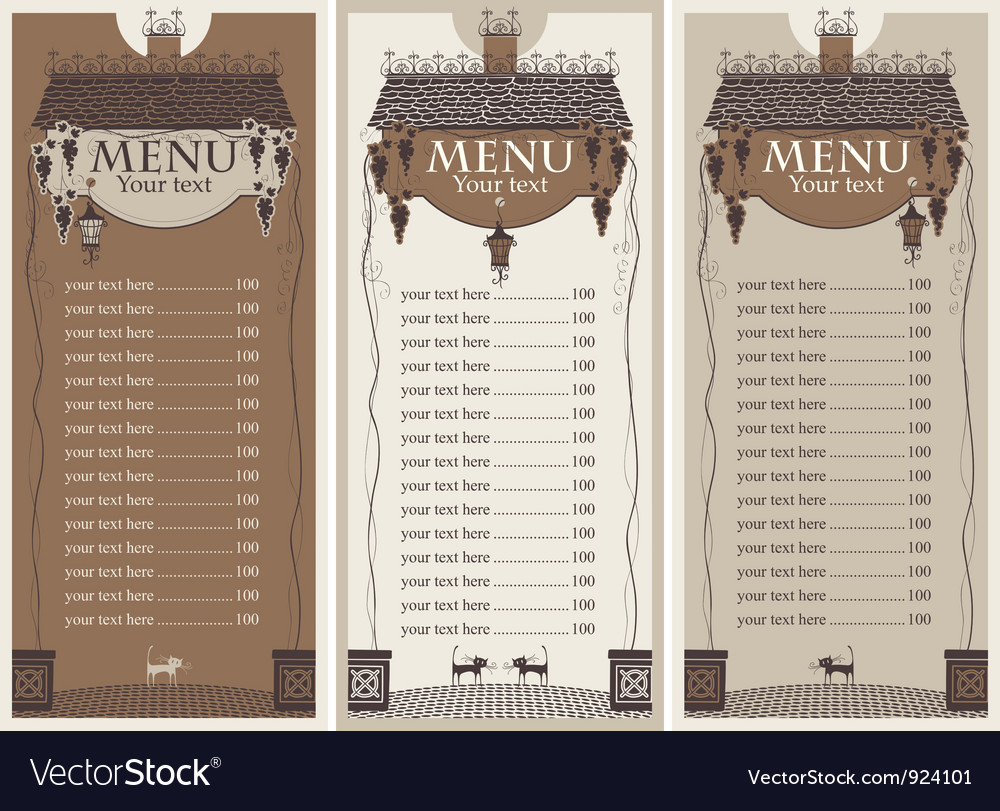 Grapes menu vector