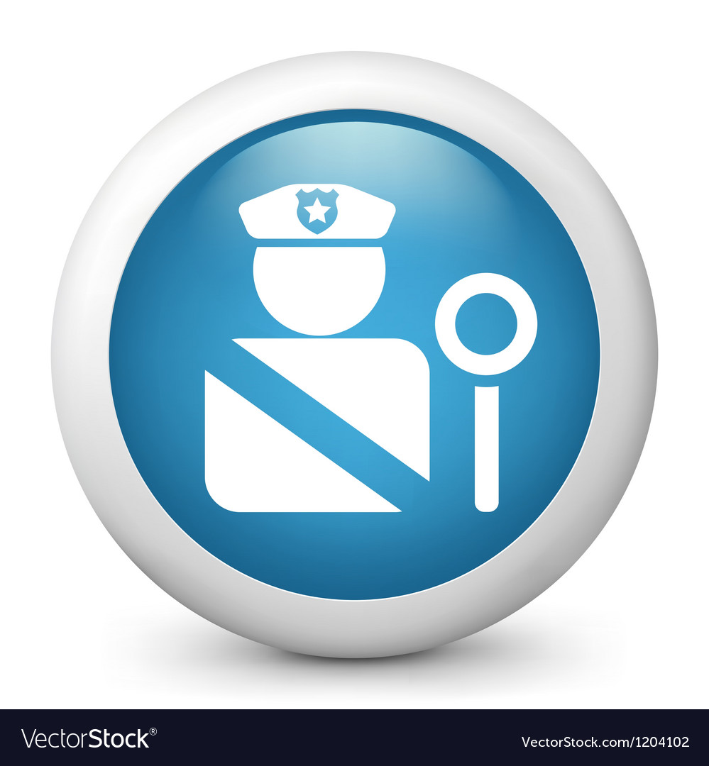 Police glossy icon vector