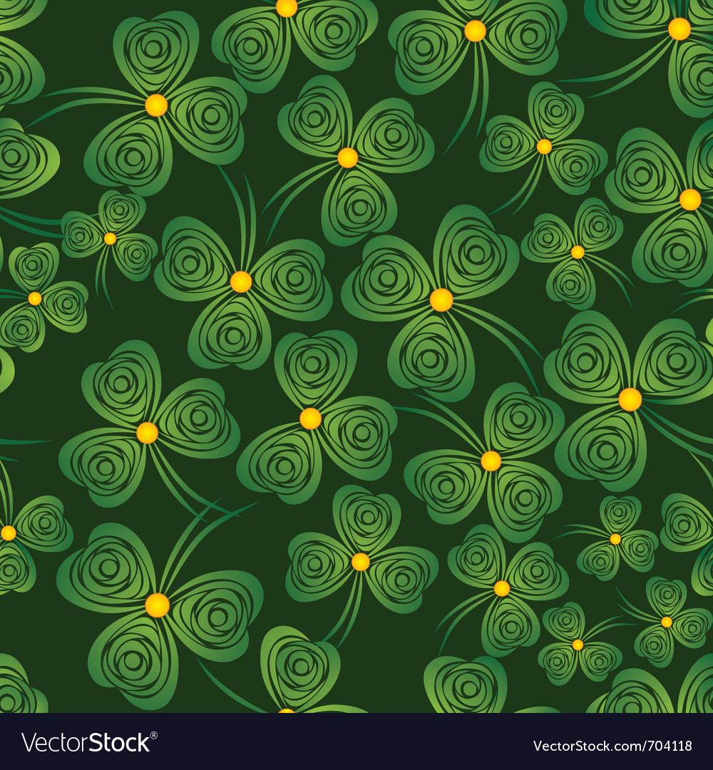 Seamless shamrock vector