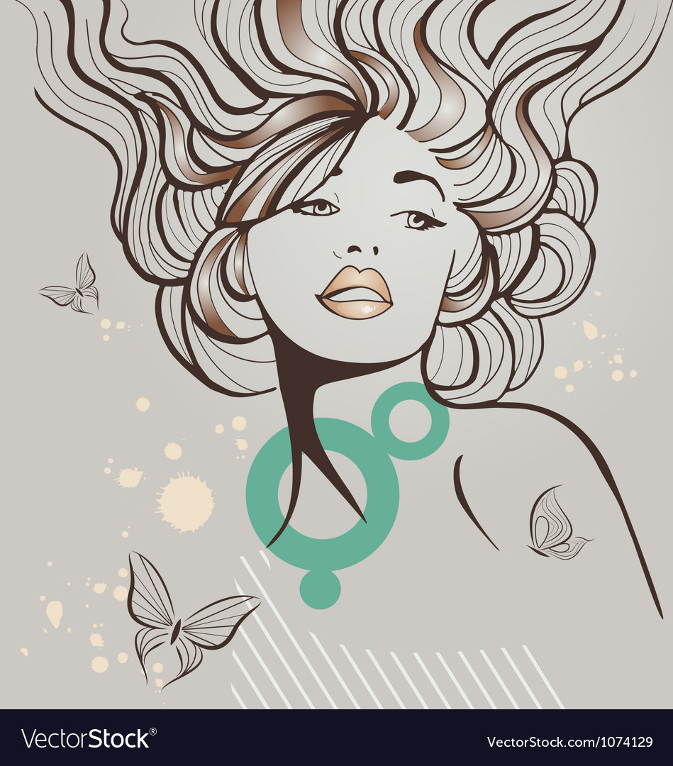 Retro beauty vector