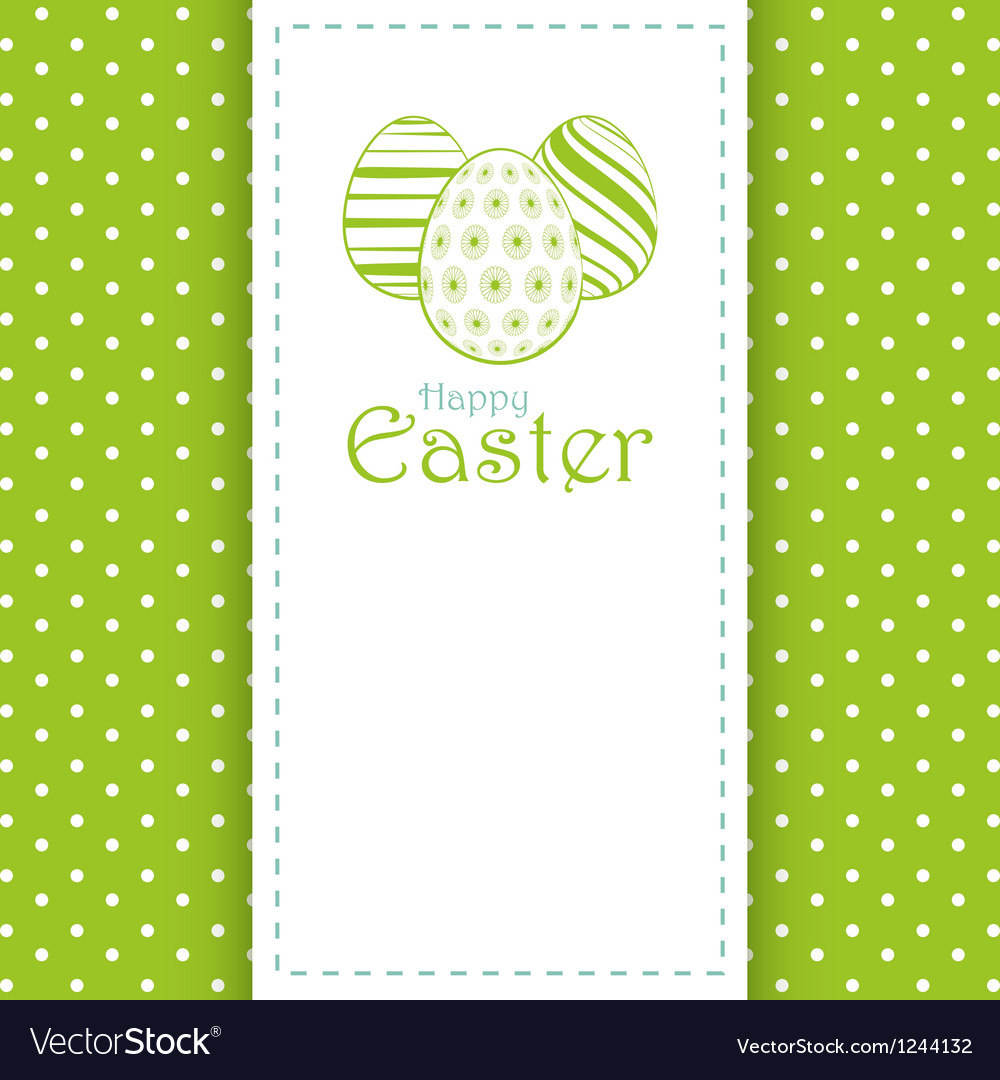 Easter panel background vector