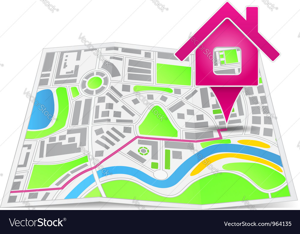 Path to the house vector