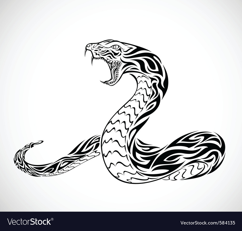 Snake tribal tattoo vector