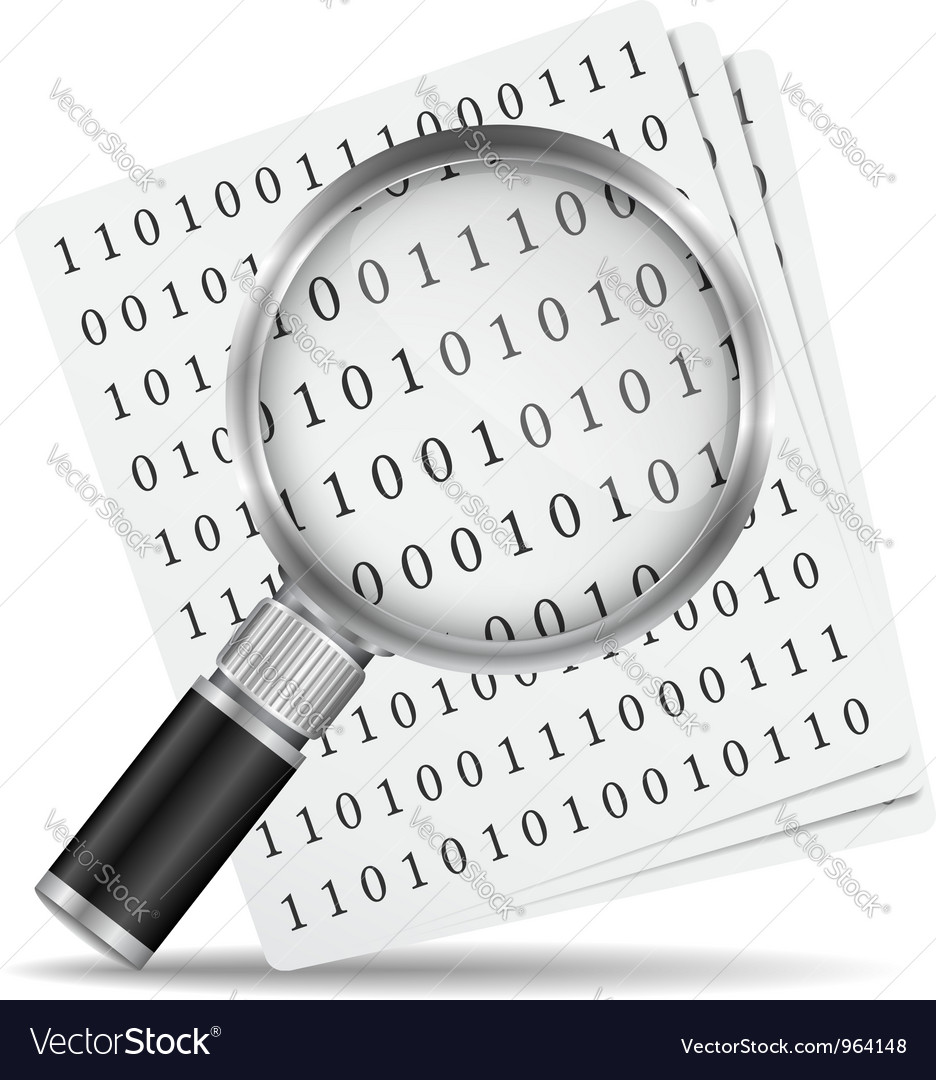 Search file icon vector