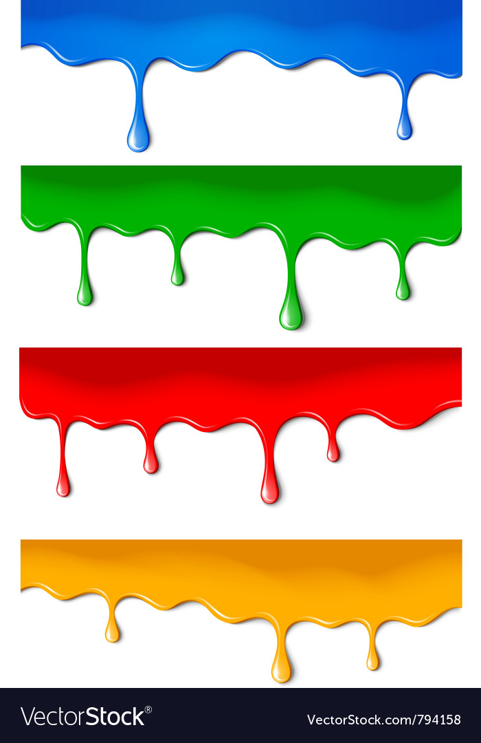Color paints vector