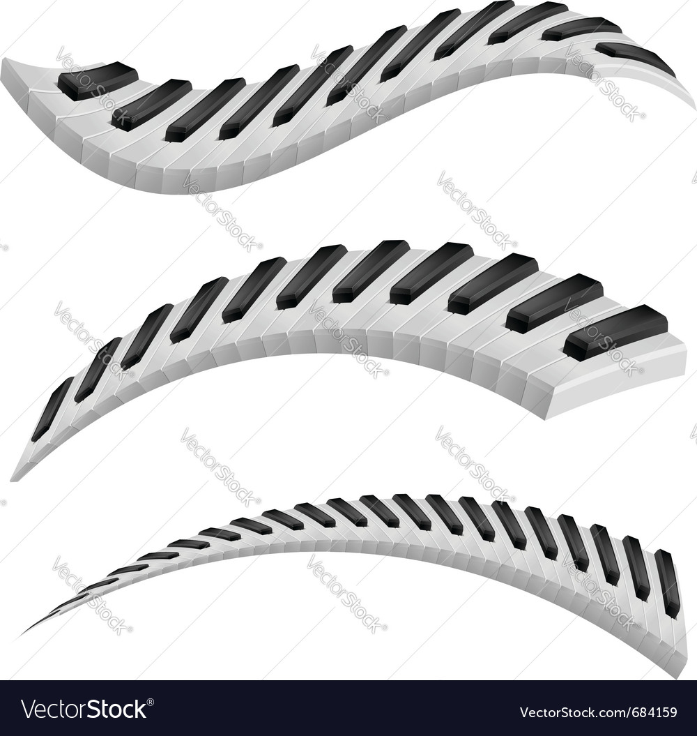 Of wavy piano keys vector