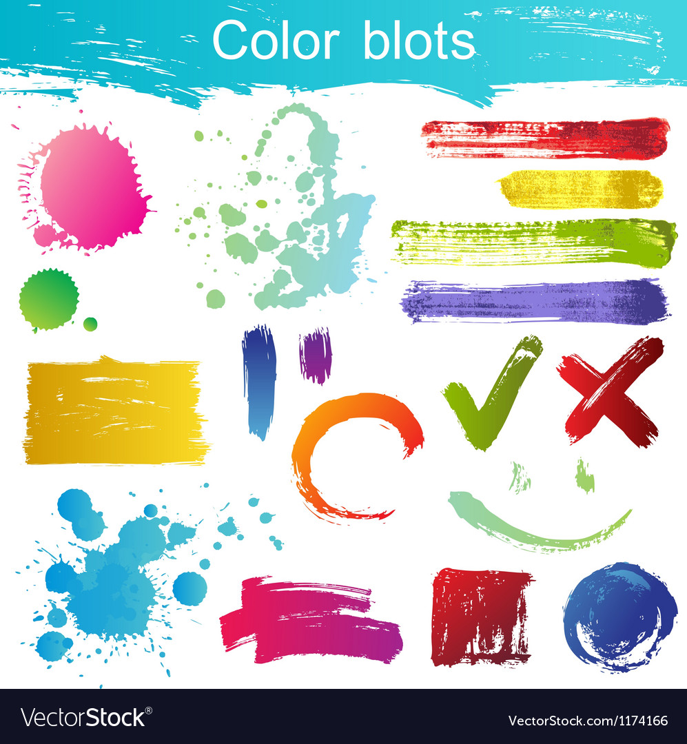 Blots set vector