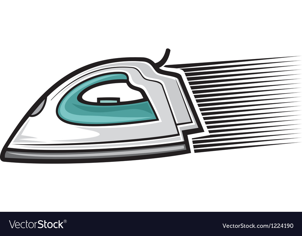 Steam iron vector