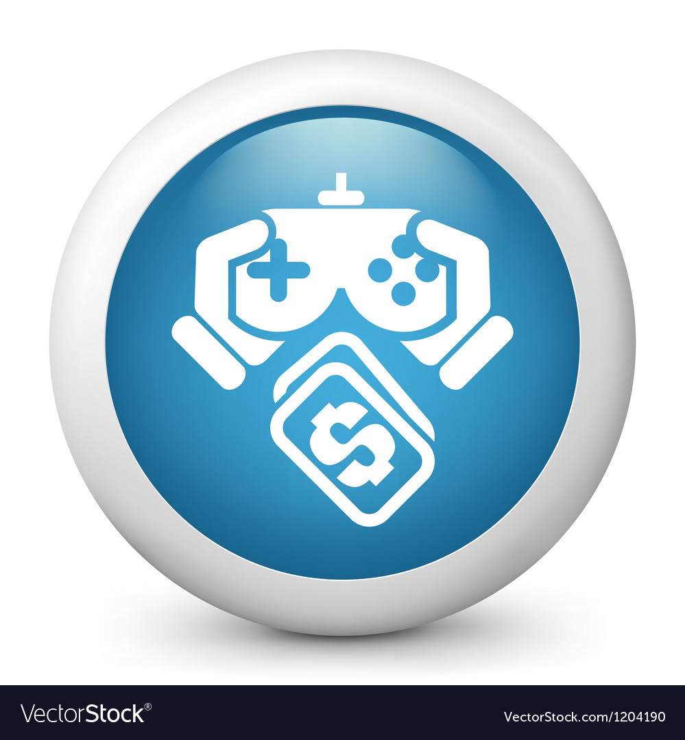 Video game purchase icon vector