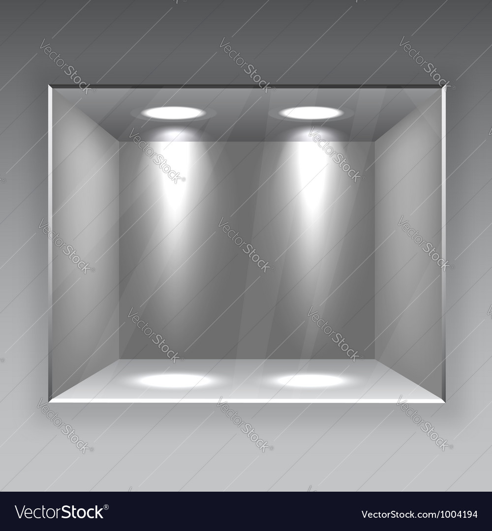 Empty store shelf vector