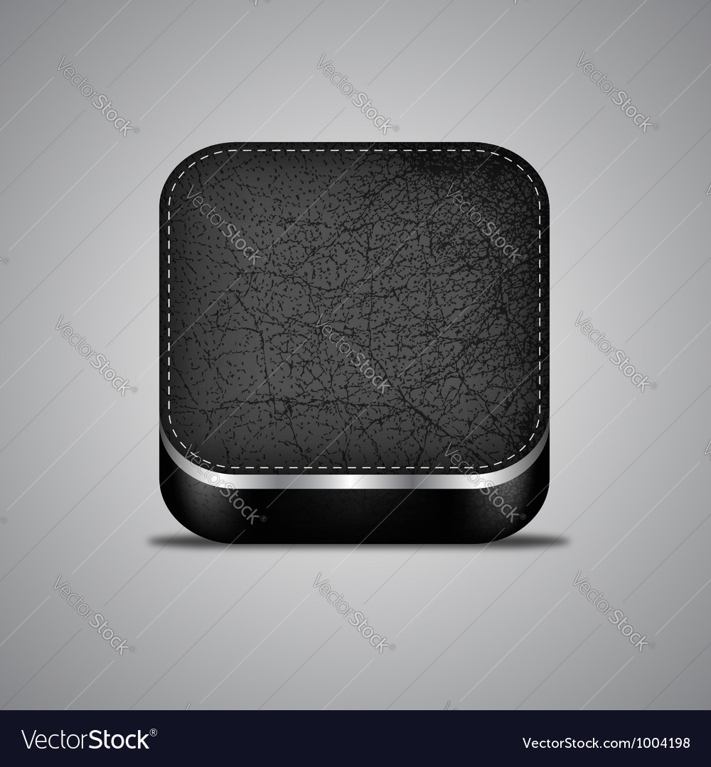Leather app icon vector