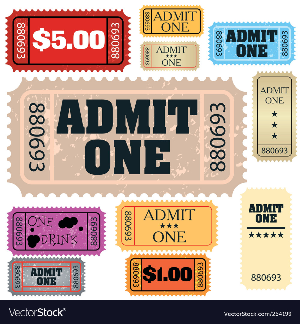 Tickets admit one vector