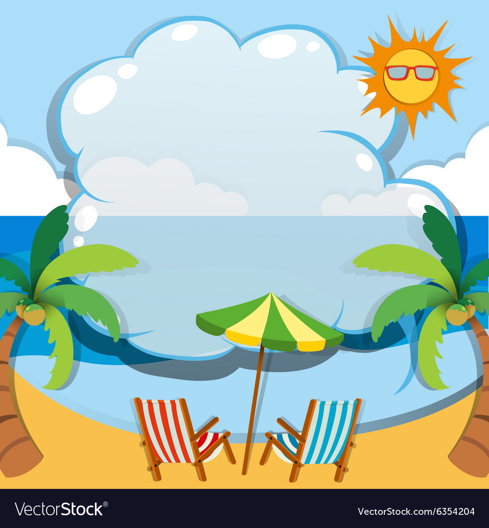 border design with summer theme vector by iimages image 6354204