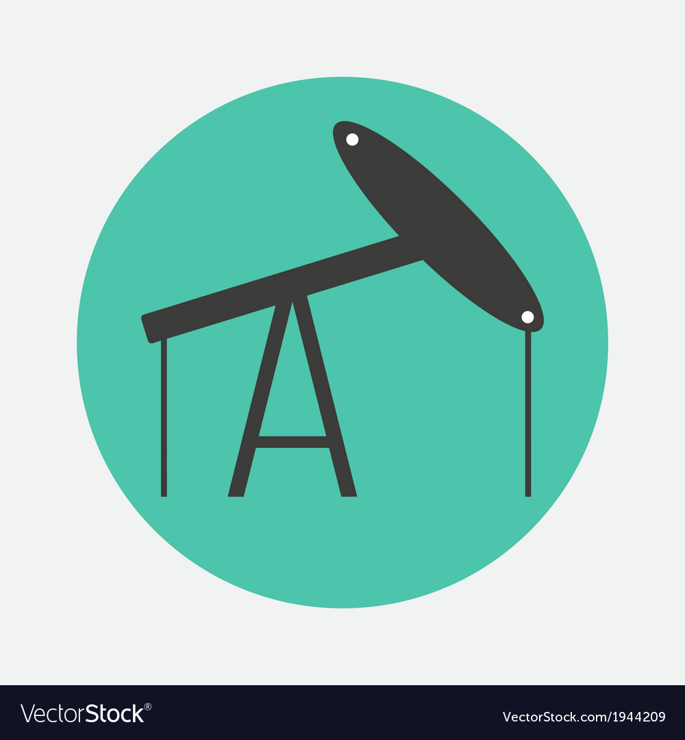 Oil derrick icon vector