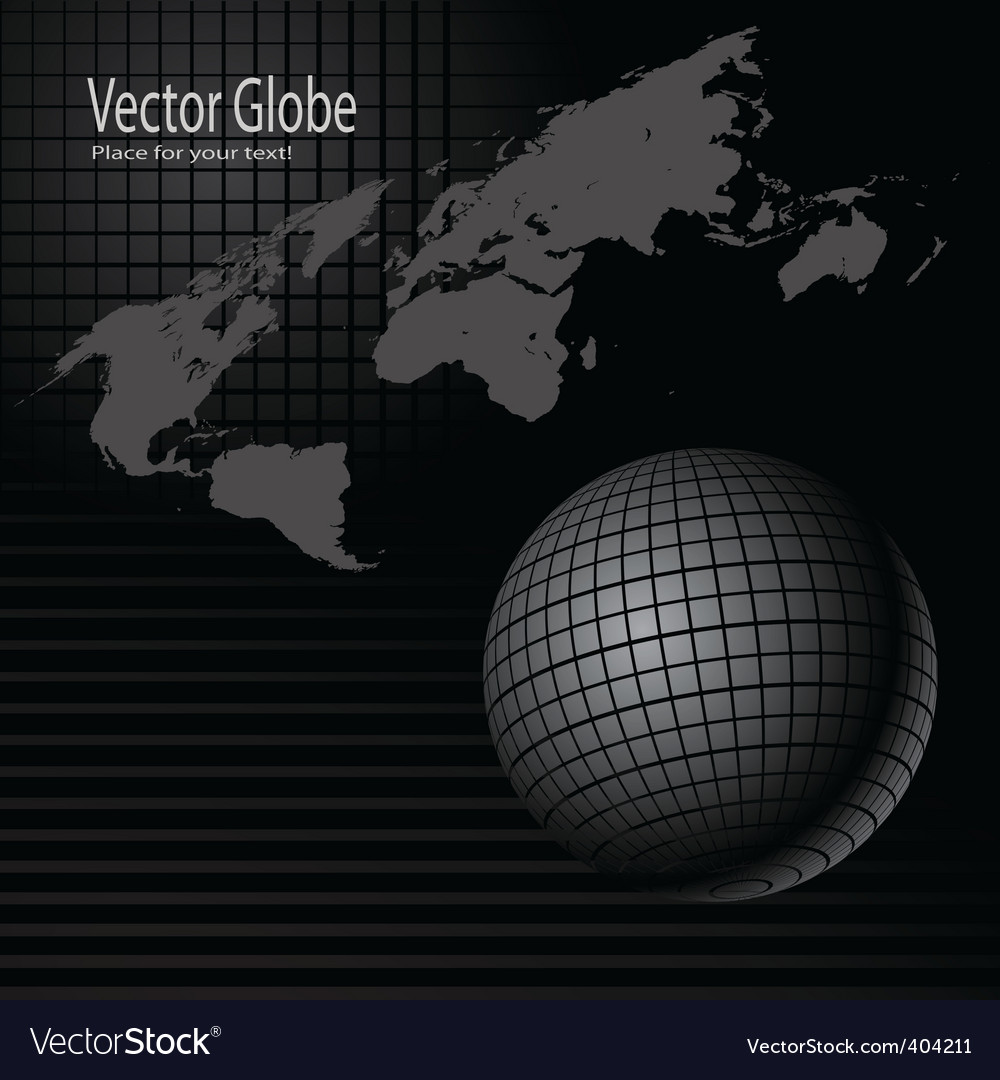 Globe and map vector