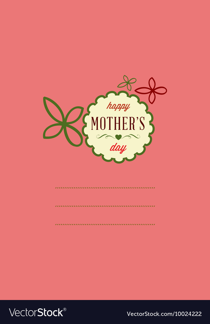 With mothers day and
