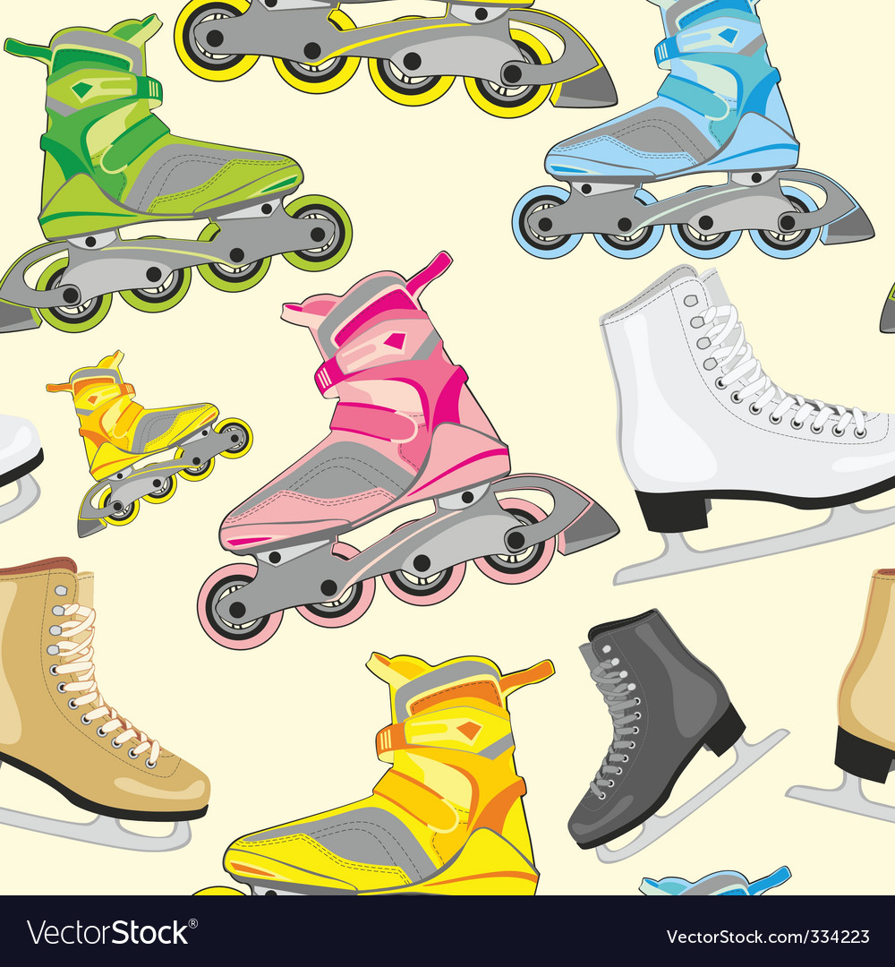 Isolated roller and ice skates vector