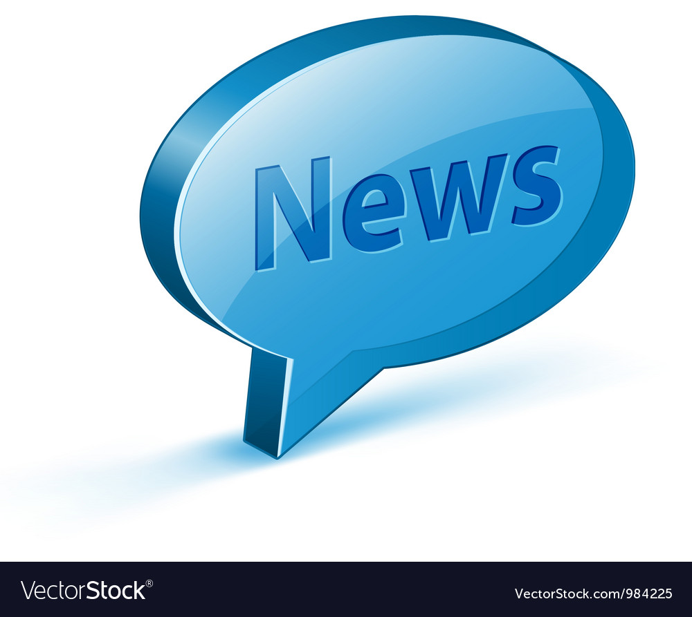 News glossy bubble vector