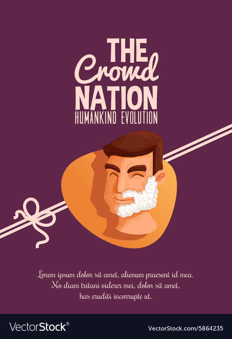 Crowd nation cartoon design