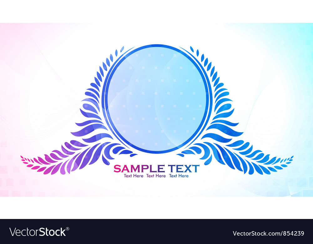 Free colorful floral frame vector