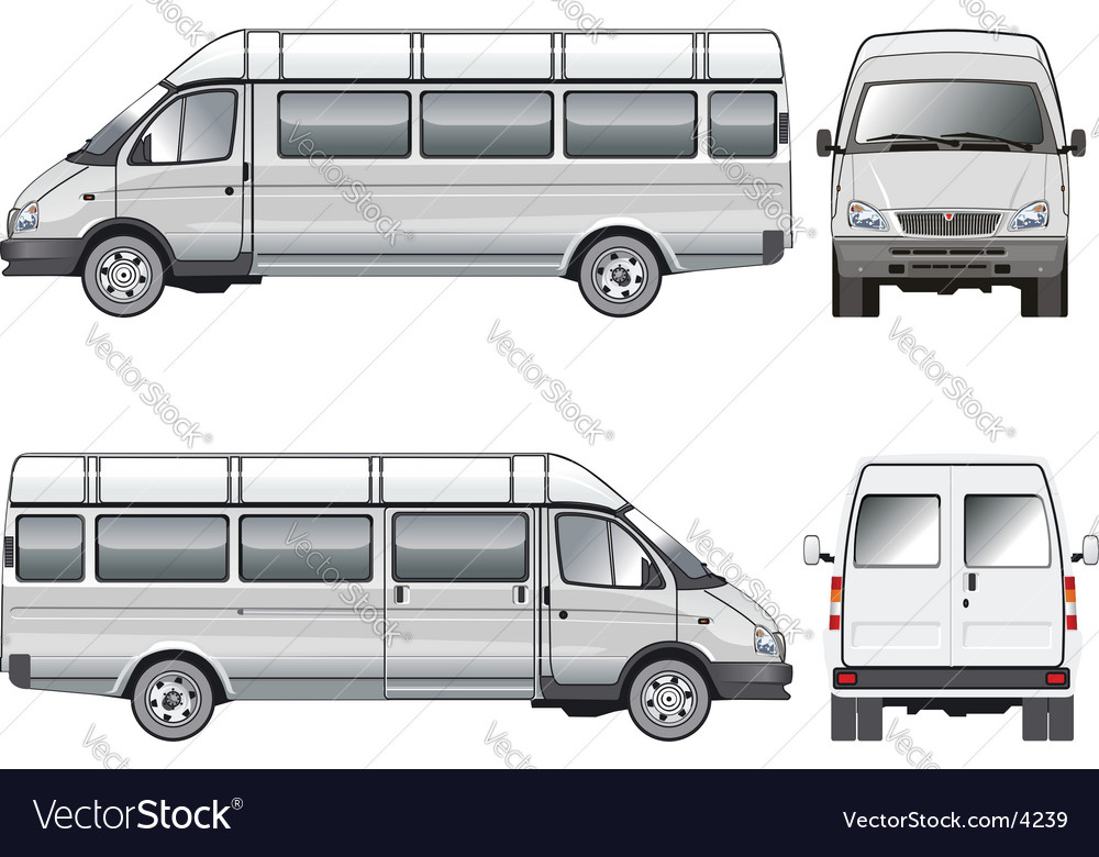 Passenger bus vector