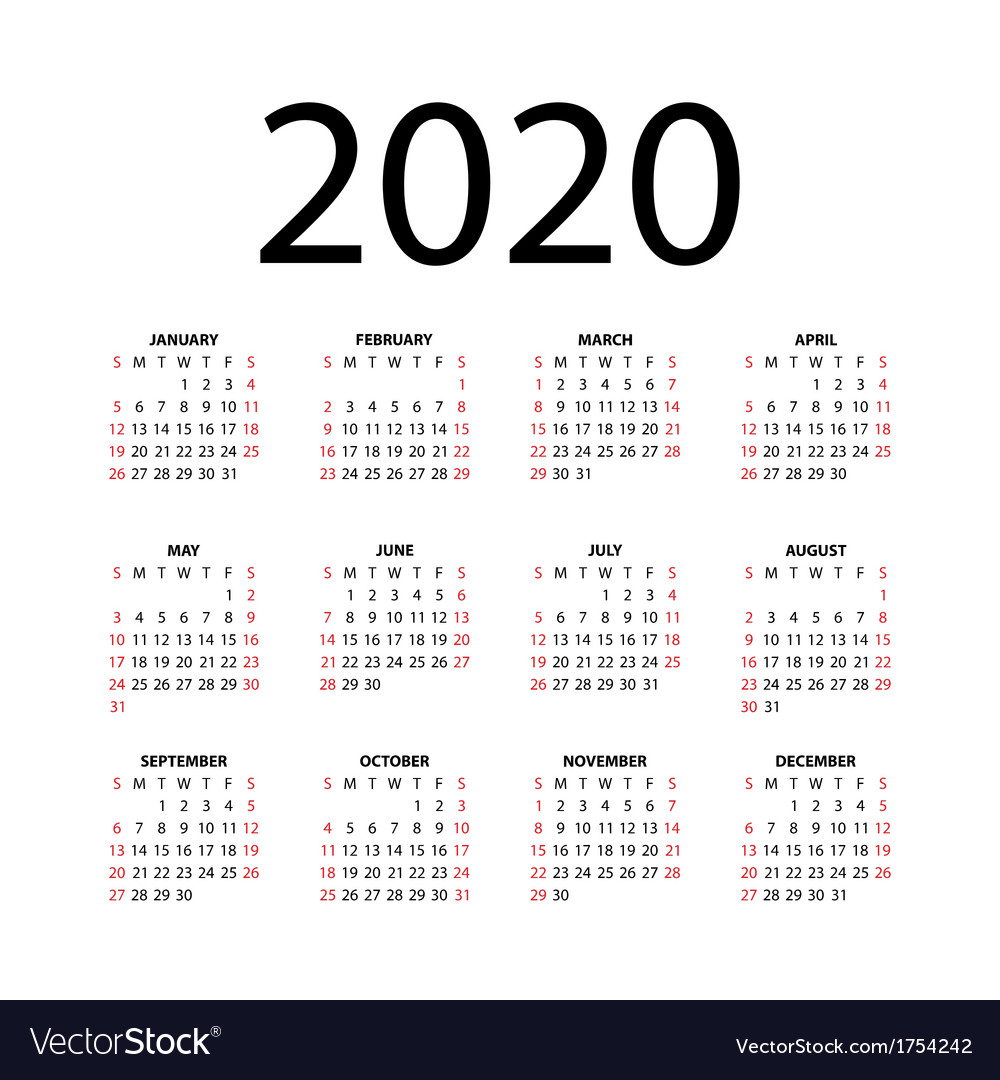 Calendar for 2020 vector by AlexDemeshko - Image #1754242 ...