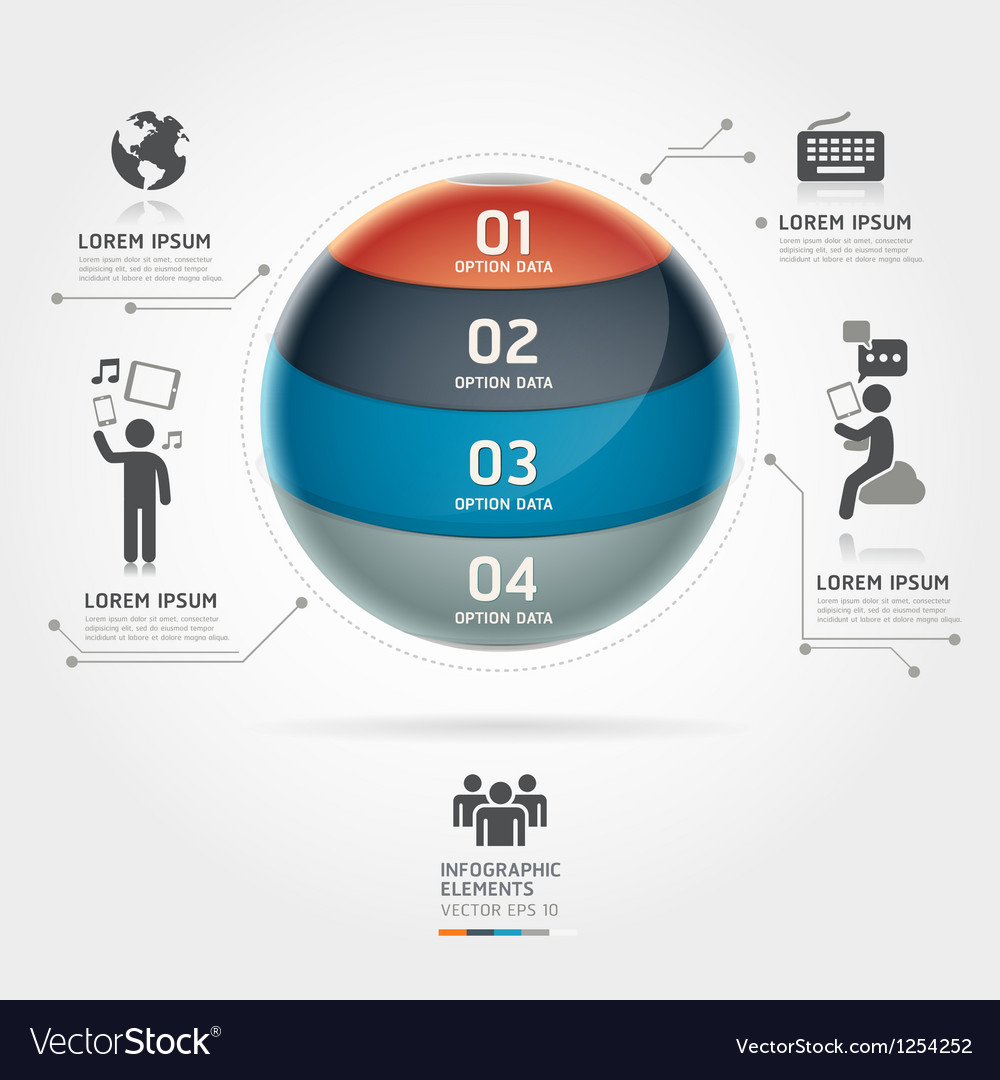 Abstract globe infographics communication vector