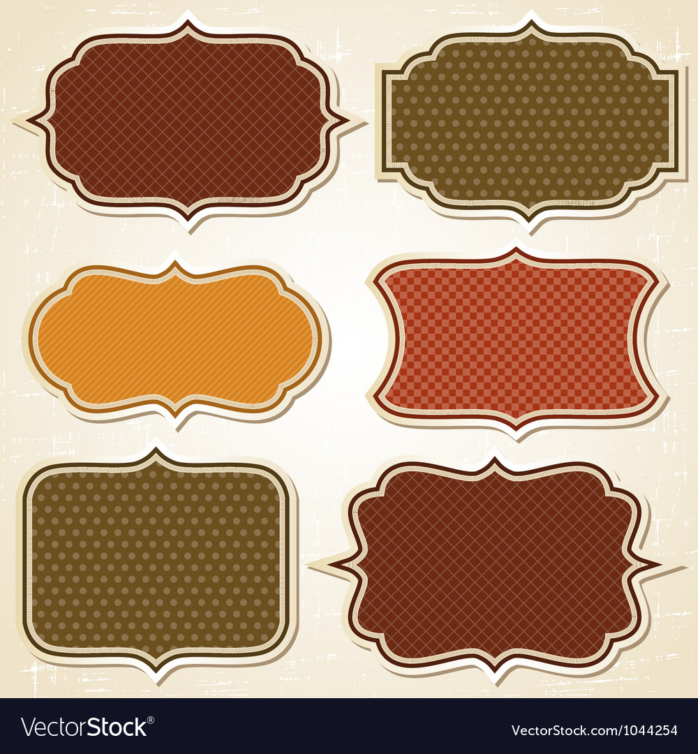 Retro labels stickers set vector