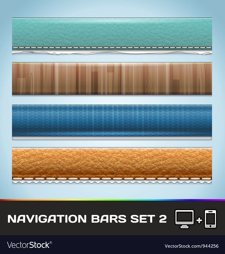 Navigation bars for web and mobile set2 vector