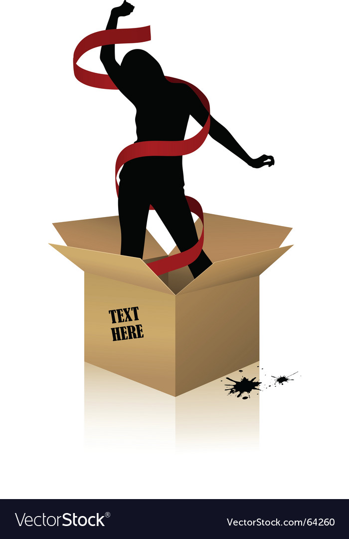 Woman box vector
