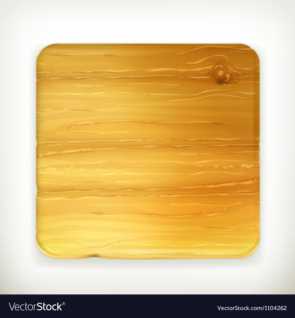 Wooden board vector